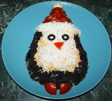 салат пингвиненок