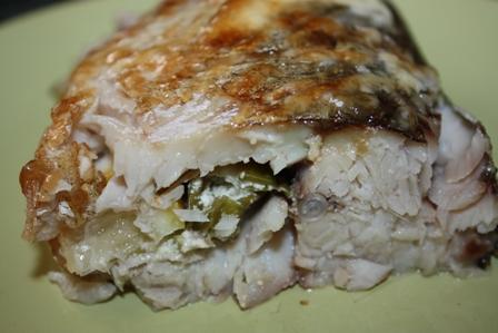 Рыба, фаршированная луком